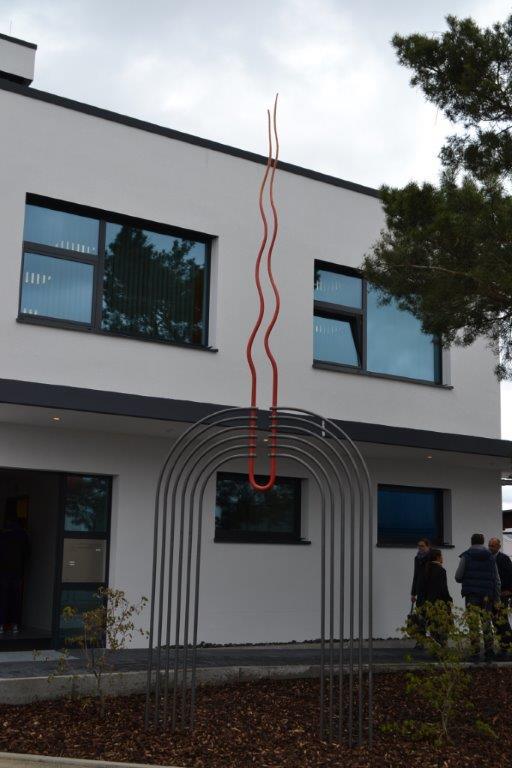 Feuertor von Adelbert Burk - Standort Fa. Karger, Illertissen