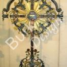 Grabkreuz oder Wegekreuz Barock geschmiedet Größe 180x120cm - NR 843