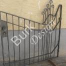 Gartentüre zweigemäß geschmiedet, 120x120cm - Nr. 845