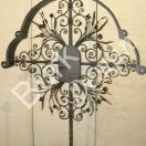 Grabkreuz aus Eisen geschmiedet mit Türe, Größe 170x15cm Nr. 846