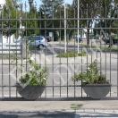 Das besondere Tor, Gartentor, Hoftor geschmiedet,, zum bepflanzen, Eisen verzinkt und lackiert, Breite 371x180 Höhe - Nr. 849
