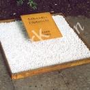 Grabmal aus Rospetin, Schriftplatte geschnitten