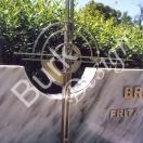 Grabkreuz aus Edelstahl
