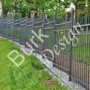 Gartenzaun, Einfriedung aus Eisen geschmiede, 150cm hoch