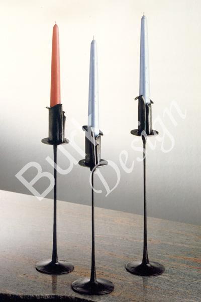 Kerzenleuchter - Kelchform, aus Eisen geschmiedet