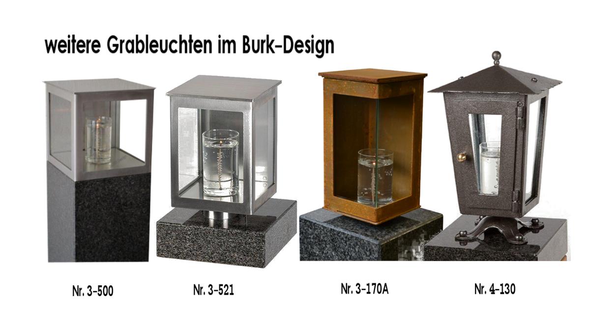 weitere Grableuchten im Burk-Design