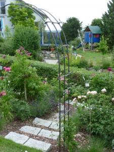 Rosenbogen-Kletterhilfe-Rosenstütze