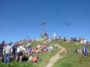 Bergmesse auf dem Seelekopf bei Steibis-Oberstaufen im Allgäu 2011