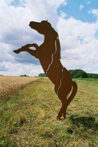 Pferd aus CorTenStahl