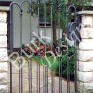 Gartentüre aus Eisen geschmiedet